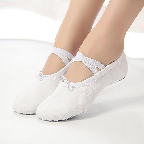 Gr Training Ballett Kinder W Ballettschuhe 22 Schläppchen 44 weiß Damen RZxn1q