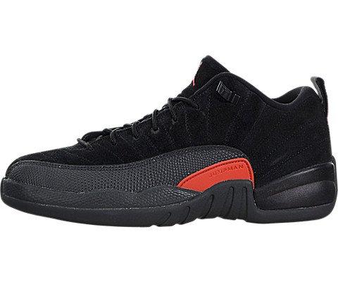 New Nike Kid's Air Jordan 12 Retro Low BG Basketball Shoe Black/Max Orange 5.5 by Jordan