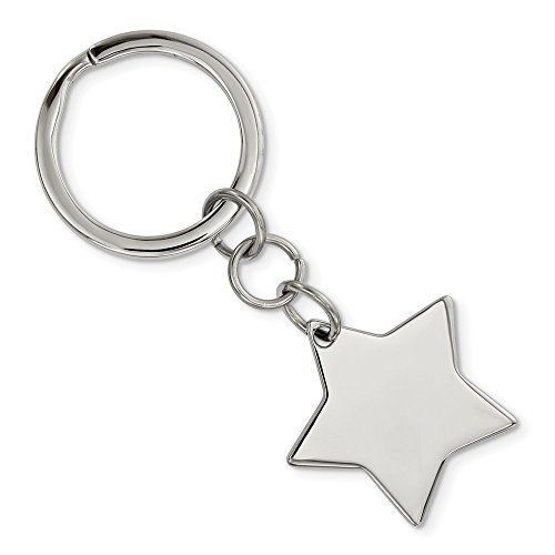 Top 10 Jewelry Gift Stainless Steel Polished Star Key Chain