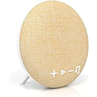 Tzumi Deco Series Speaker - Small Wireless Bluetooth Fabric Speaker - Add Powerful Sound And Ambiance to Any Room - Beige
