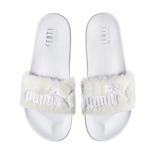 White Fenty Diapositivas Puma Piel 03 X 3662266 Rihanna estrenar gdwqnXR88