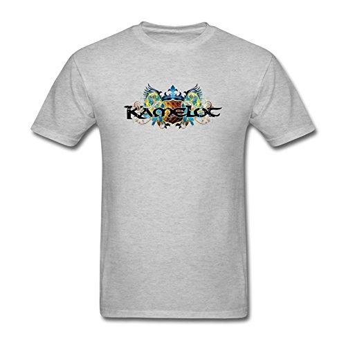 NewSDAi Men's Kamelot Band Logo T-shirts -