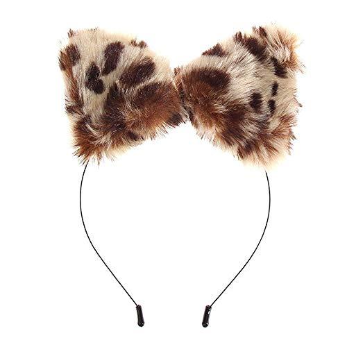 Fluffy Cat Ear Headband Small Item for Costume with Ear Auria Hair E6N3 ()