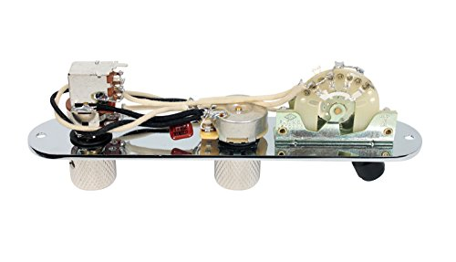 Fender Telecaster Loaded 3-Way Control Plate w/Push-Pull Series-Parallel, Chrome by Custom Shop (Image #2)