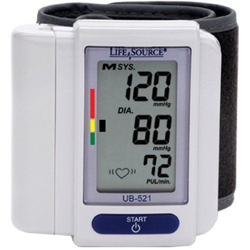 "A&D Medical UB-521 Wrist Blood Pressure Monitor - 5.3"" x ..."