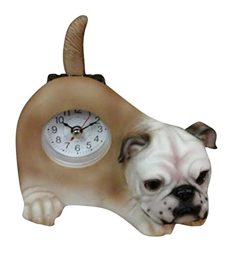 Wagging Table Clock - AIE Bull Dog Desk Clock with Wagging Tail GF77 6