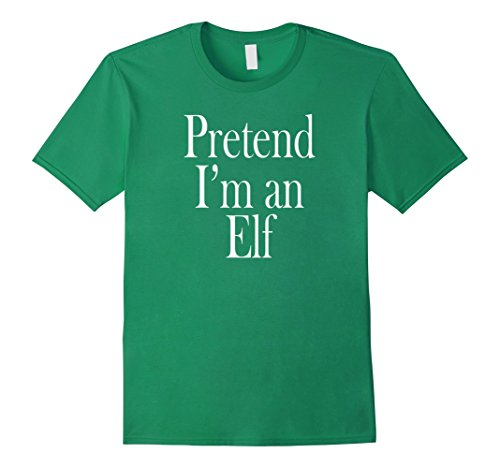 Male Elf Costumes (Mens Elf Costume T-Shirt for the Last Minute Party XL Kelly Green)