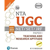 NTA  UGC - NET/SET/JRF Paper I - Teaching and Research Aptitude | Includes 2019 Paper | Third Edition | By Pearson