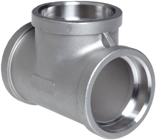 Stainless Steel 304 Cast Pipe Fitting, Tee, Socket Weld, MSS SP-114, 1
