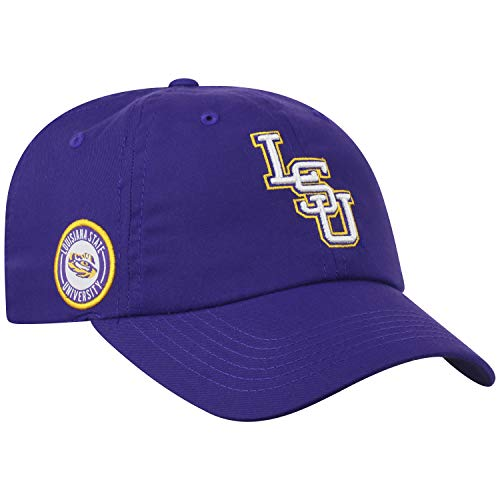 (Top of the World LSU Tigers Official NCAA Adjustable Purple Monsho Staple 4 Hat Cap 745381)