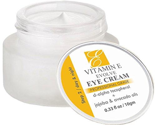 Naturels vitamine E crème contour des yeux pour les cernes & sous traitement des yeux. Réduire les sacs gonflés, supprimer les rides & ridules & adoucir les pattes d'oie. Meilleur anti-âge hydratant crème pour éclaircir & hydratant.