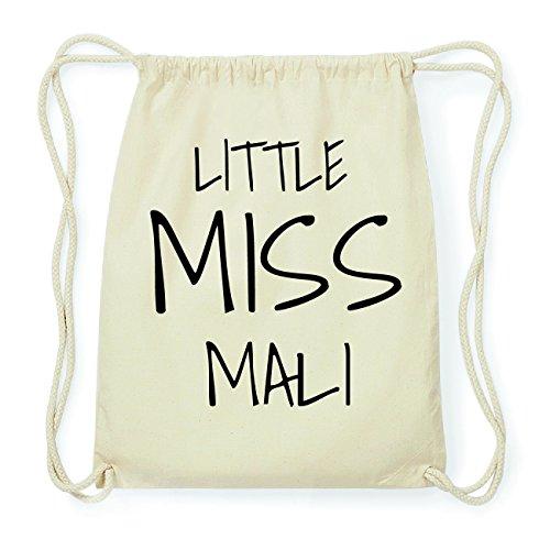 JOllify MALI Hipster Turnbeutel Tasche Rucksack aus Baumwolle - Farbe: natur Design: Little Miss NBYj9mSW