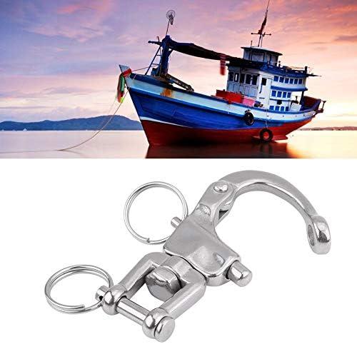 Silber Drehbarer Karabinerhaken 10 mm aus Edelstahl für Marine Sailing Yacht