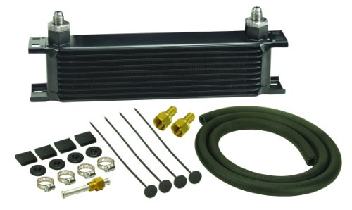Derale 13401 Series 10000 Stacked Plate Transmission Oil Cooler 10 Row