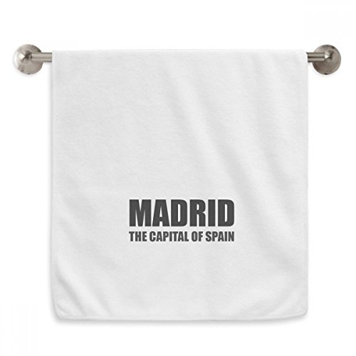 DIYthinker Madrid The Capital Of Spain Circlet White Towels Soft Towel Washcloth 13x29 Inch by DIYthinker