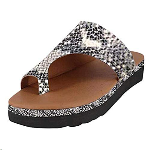 Claystyle Women Sandal Comfy Platform Sandal Shoes 2019New Summer Slides Slippers Sandal Toe Platform Flip Flop Shoes(Black,US: 7)