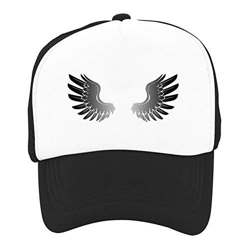 Black Wings Angel Summer Sun Protection for Children, Baseball Net Hat for Boys and Girls Black