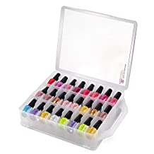 MAKARTT® Universal Nail Polish Holder See-Through Counter Case Polish Storage for 48 Bottles Space Saver for DIY and Salon Use (clear)