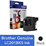 Office Products : Brother Genuine Standard Yield Black Ink Cartridge, LC201BK, Replacement Black Ink, Page Yield Up To 260 Pages, Amazon Dash Replenishment Cartridge, LC201BK