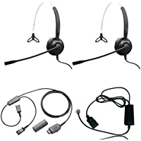 XS 820 Mono Headset Training Bundle | Headsets, Telephone Interface Cable, Y-Training Splitter Cord #27019-0 (with Mute button) | Use for Coaching, Supervising, Training, Monitoring
