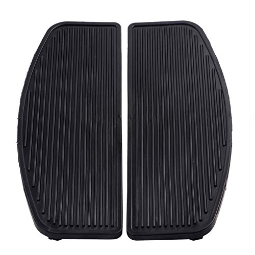 Rubber Front Rider Insert Floorboard Footpeg Footboards for Harley Touring Softail ()