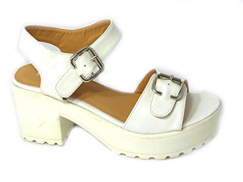 SKOS - Sandalias de vestir de Caucho para mujer - White (8552-23)