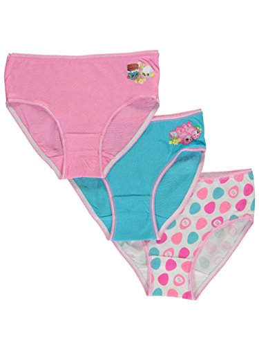 Shopkins Girls' Little Easter Holiday Pastel' 3 Pack Brief Underwear, Multi 4 for $<!--$6.99-->
