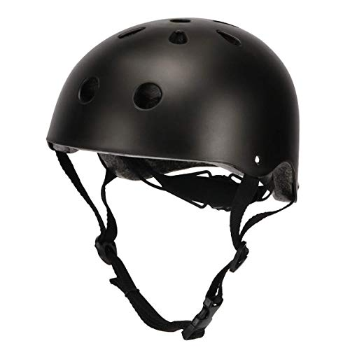 Bike Bmx Helmet Skateboard - BOSONER Kids Cycle Bike Helmet, Adjustable for Toddler Multi Sport BMX Bicycle Helmet, Sports Safety Protective Helme for Mountain Bike Skateboard Skating, Light Weight (Matte Black)