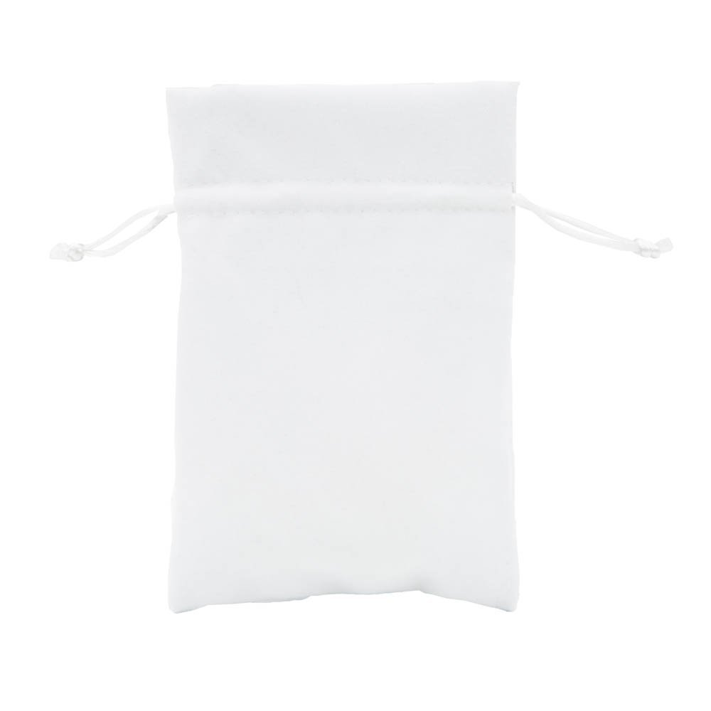 White 110x160mm Packaging World 192 Deluxe Velvet Jewellery Gift Pouches 70x100mm (Black)