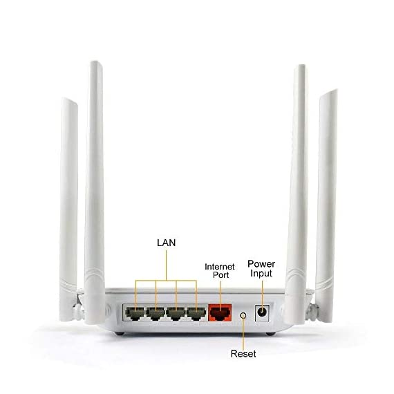 Wireless Router 1200mbps Long Range Wifi Router Ac High Speed Dual Band Router with 4 Lan Ports for Home Office internet Router Amazon Alexa with Wifi Extender for 2.4 ghz 2 Long Range Wi-Fi router works great for wireless internet in homes offices restaurants. A secure router have 3 access points with Guest Wi-Fi no passwords Required.Works well with Amazon Alexa and your echo devices work well on it. Dual Band wifi router, the actual speed of access to the internet is based on your internet service. If your internet service at a maximum speed of less than 100Mbps, highly recommend you to use WISE TIGER router. High Speed wireless router delivers up to 300Mbps at 2.4GHz or 866Mbps at 5GHz, which allows you to experience smooth online gaming and video streaming with better connections