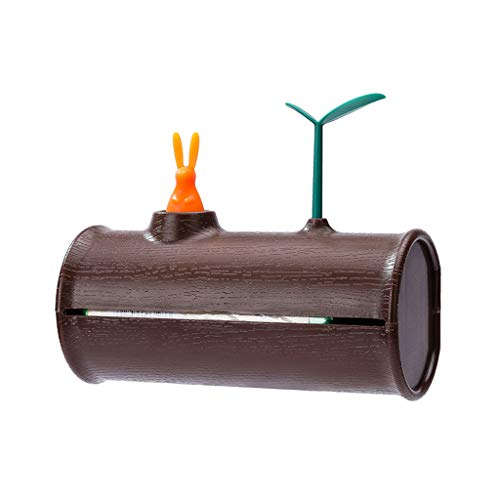 Tpingfe Rubbish Bag Squirrel Tree Hole Design Storage Wall-Mounted Clamshell Storage Box -