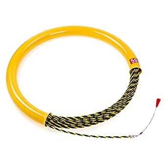 CCChaRLes 50M 6Mm Cable Push Puller Conductor Rodder Fish Tape ...