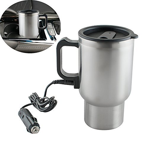 Vinmax Car Insulation Heating Cup 12V 450ml Stainless Steel Travel Coffee Drinks Water Mug Cup Heated Thermos
