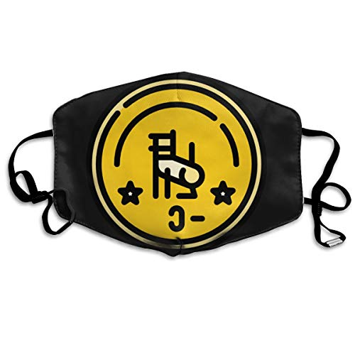 SDQQ6 Asia-Coins (17) Mouth Mask Unisex Printed Fashion Face Mask Anti-dust -