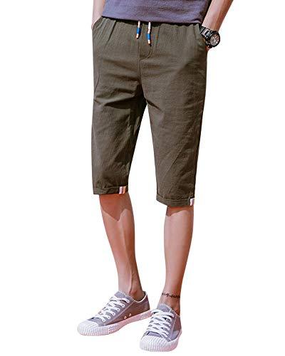 Loisirs Pour grün Slim Chino Avec Simple 3 Armee Serrage Chic 4 Bolawoo Cordon Hommes Mode Droits De Shorts 77 Couleur Unie Pantalons wpxPgI