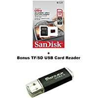 Sandisk Micro SDXC Ultra MicroSD TF Flash Memory Card 128GB 128G Class 10 for Go Pro Hero 4 Hero Session Gopro 4 + BONUS SD/TF USB Reader