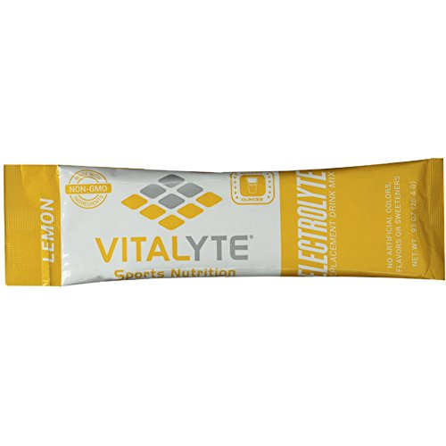 Vitalyte Electrolyte Powder Sports Drink Mix, 25 Single Serving Packets, Natural Electrolyte Replacement Supplement for Rapid Hydration & Energy - Lemon (Isotonic Drink Mix)