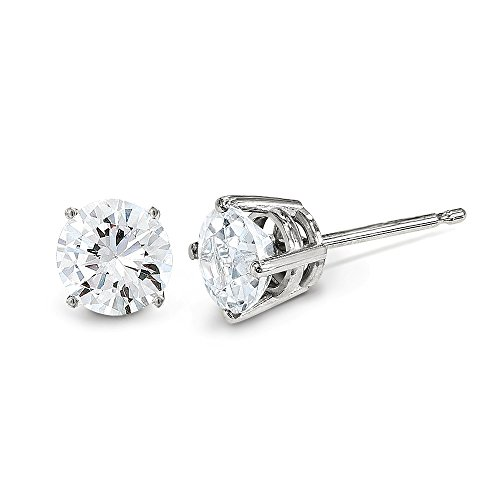 0.2 Ct Diamond Earrings - 14k White Gold .20ct. I1 J-K Diamond Stud Earrings. Carat Wt- 0.2ct (3MM)