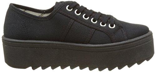 Zapatillas Victoria 09301 - Blucher con Plataforma Negra mujer Negro