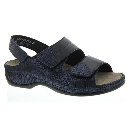 Berkemann Vrouwen Sofie Strappy Sandals Blue (blauw Metallic)
