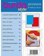 Burda–Papel carbón, color azul y rojo, 2 paquetes
