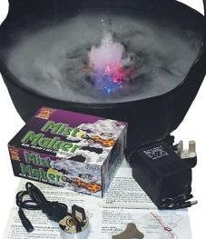 the halloween shop Men's Cauldron Mist Maker Fogger Set Halloween Prop One Size Black by the halloween shop