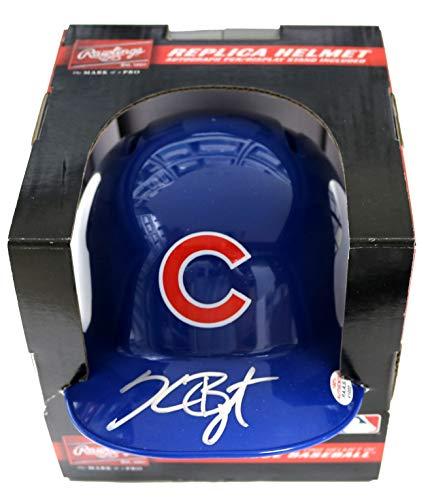 Chicago Cubs Autographed Helmets - Kris Bryant Chicago Cubs Signed Autographed Mini Helmet PAAS COA
