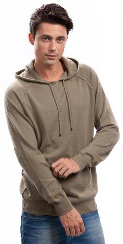 Hoodies for Men - 100% Cashmere - by Citizen Cashmere (Khaki, M) 42 112-12-02 by Citizen Cashmere (Image #3)