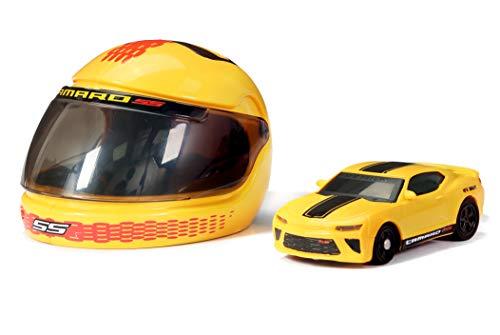 New Bright 1:64 R/C Mustang GT & Camaro Helmet Racers 2 Pack, 6423TP