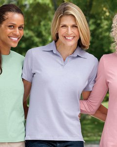 - Devon & Jones Ladies Stretch Jersey Polo - White DP305W XL