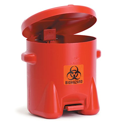 [해외]폴리에틸렌 Biohazard Can 10-Gallon 18 W x 22 D x 18 H/Polyethylene Biohazard Can 10-Gallon 18 W x 22 D x 18 H