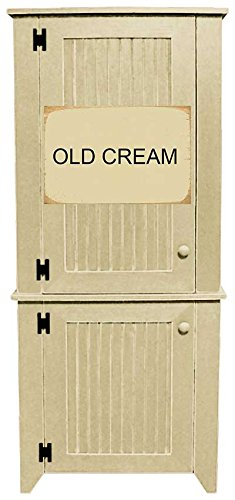 Sawdust City 2 Piece Kitchen Pantry Cabinet (Old Cream)  sc 1 st  Amazon.com & Amazon.com: Sawdust City 2 Piece Kitchen Pantry Cabinet (Old Cream ...