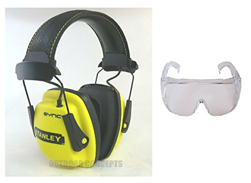 Stanley SYNC MP3 Noise Reduction Protection Headphones Ear Defender w/ Glasses by The ROP Shop