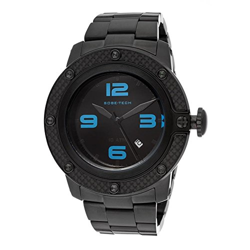 Glam Rock Men's GR33005 SoBe Black Dial Black Ion-Plated Stainless Steel Watch